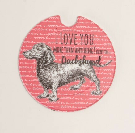 Plastic Licence Disc Holders - I Love you more than anything except the Dachshund
