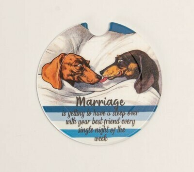 ​Plastic Licence Disc Holders - Marriage - Blue