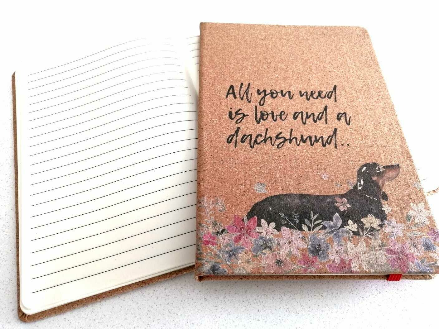 Dachshund Notepad - All you need is Love and a Dachshund