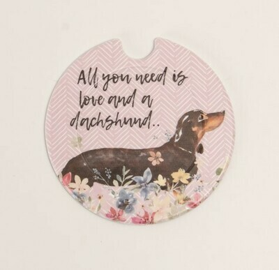 ​Plastic Licence Disc Holders - All you need is Love and a Dachshund