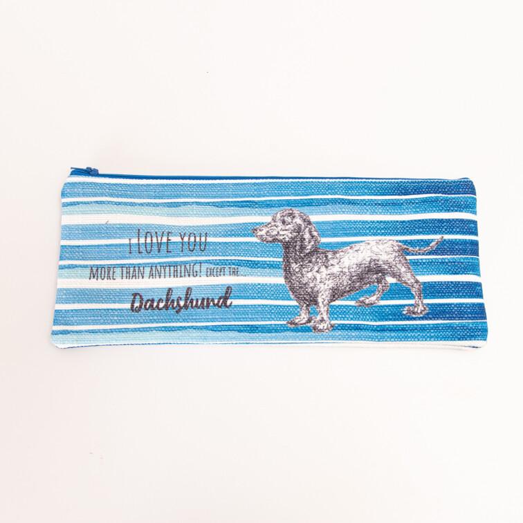 Fabric Pencil Bag - Blue