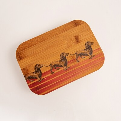 Bamboo Fibre Lunch Box - Red