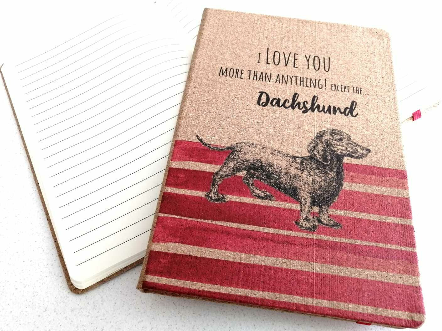 Dachshund Notepad - I Love You - Red