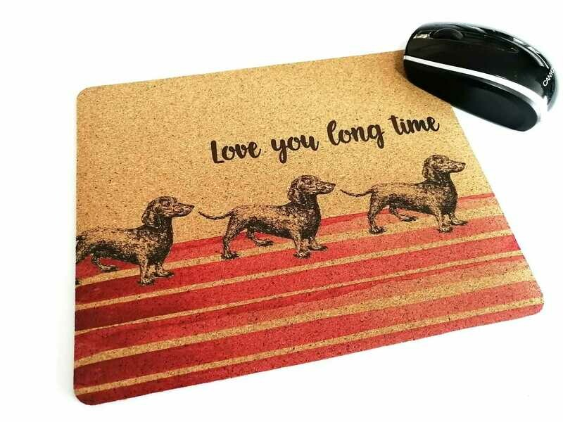 Mouse Pad - Cork Theme - Red
