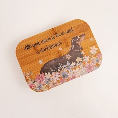 ​Bamboo Fibre Lunch Box - All you need is Love and a Dachshund