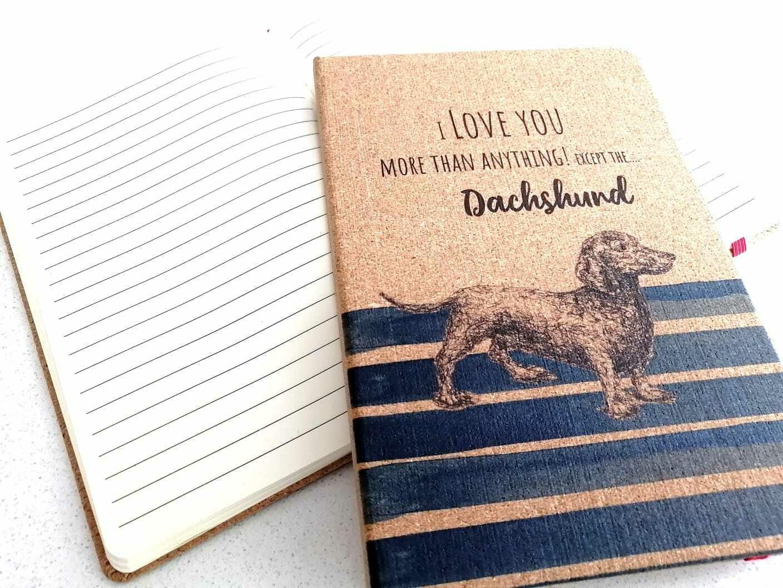 Dachshund Notepad - I Love You - Blue