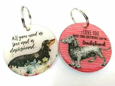 Keyrings -  All you need is Love & I love you