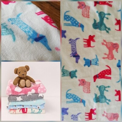 Fleece Blanket - Mixed Doggies