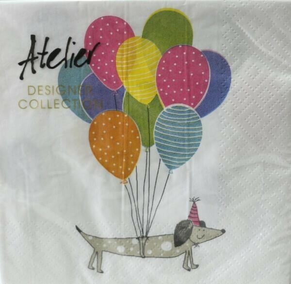 Dachshund with Balloons Paper Napkins