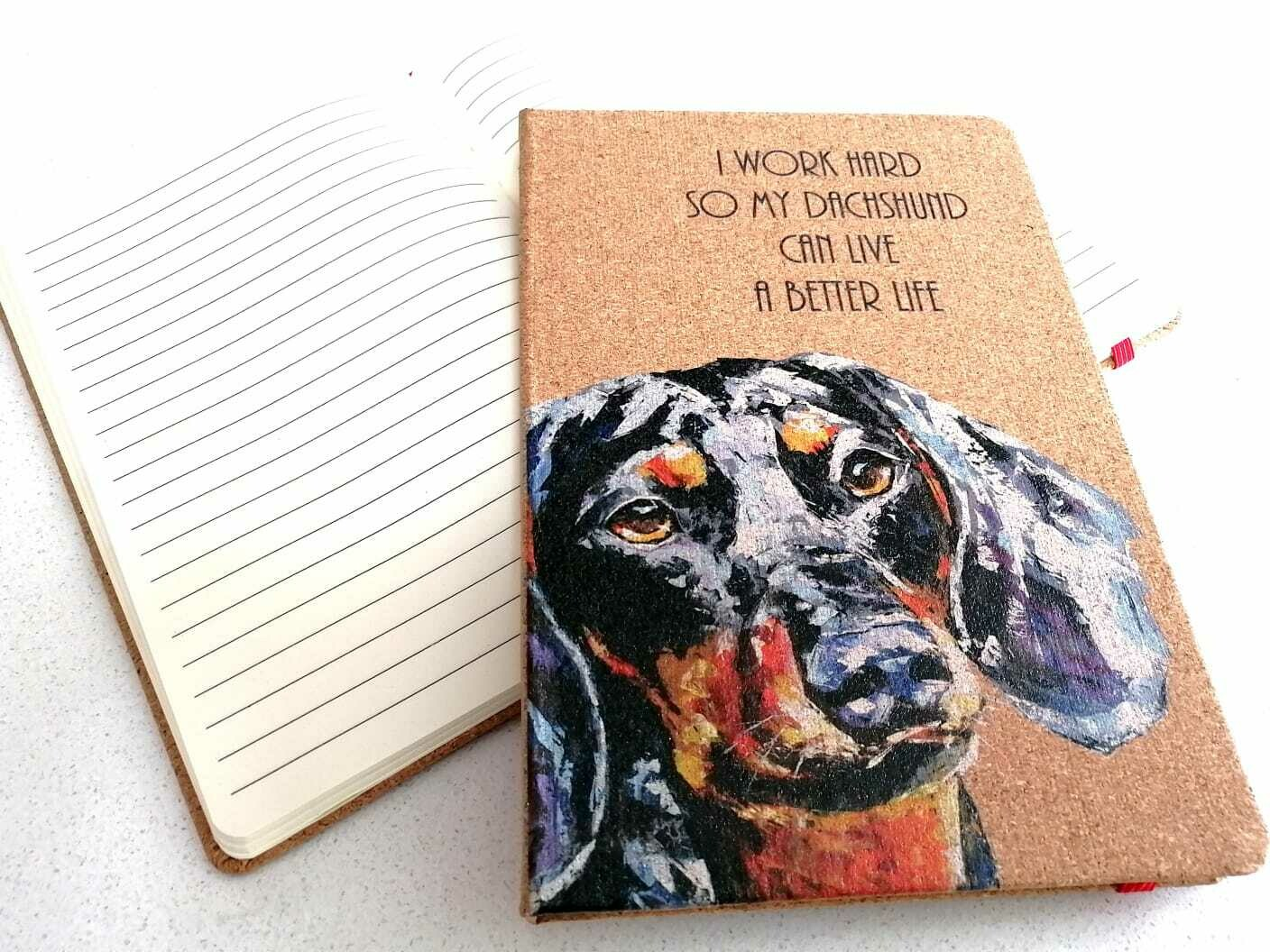 Dachshund Notepad - I work hard so my Dachshund can have a better life