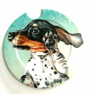 ​Plastic Licence Disc Holders - Cheeky Dachshund