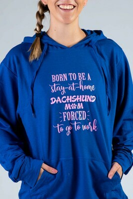 Born to Be Hoodie  - Royal with Pink Print