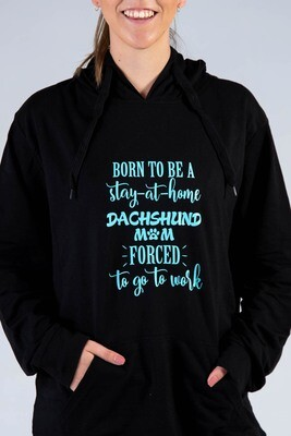 Born to Be Hoodie  - Black with Teal Print