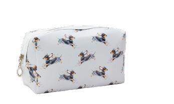 Playful Dachshund - Make Up Bag