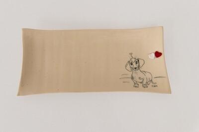 Ceramic Platter - Red Heart