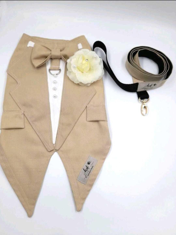 Tan Tuxedo - Two Sizes