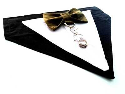 Black Chest Harness Tuxedo  - Two Sizes