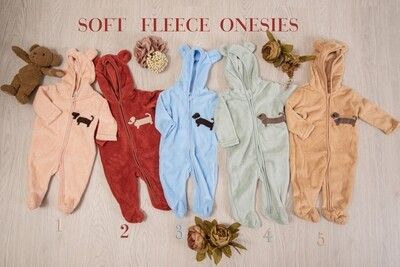 Jumpsuit  with hood 1 - Pale Peach (0 - 3 months)