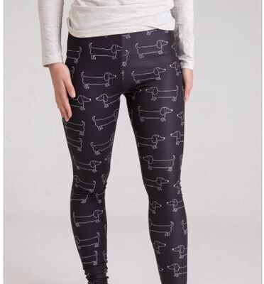 Dachshund Print Leggings - Design 8 - NEW!!!