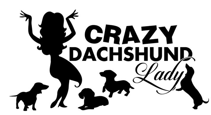 Car  Sticker - Crazy Dachshund Lady