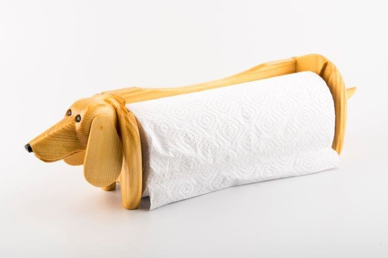 Dachshund Carlton Towel Dispenser