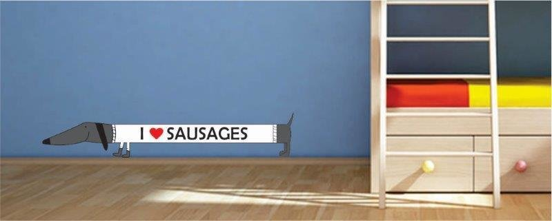 Wall Decal - I Love Sausages