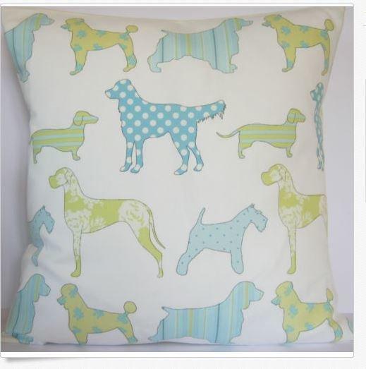 Cushion Slip - Mixed Dog Pattern 2