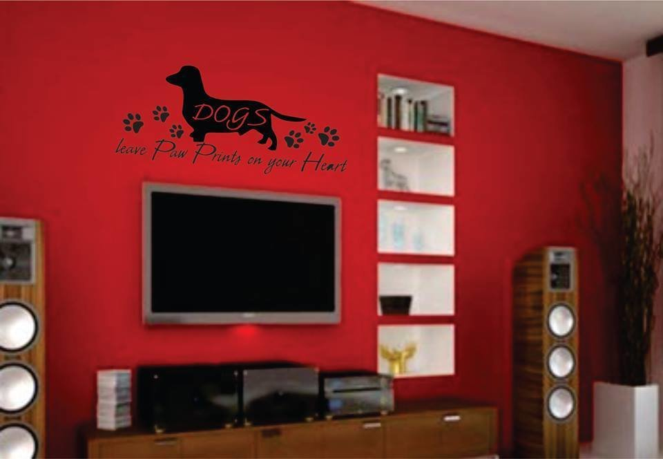 Wall Decal  – Pawprints on your Heart