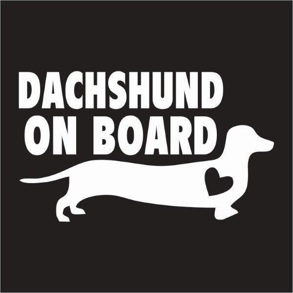 Car Sticker - Dachshund on Board