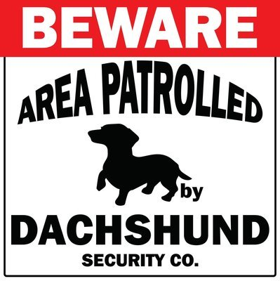Beware - Area Patrolled Sign