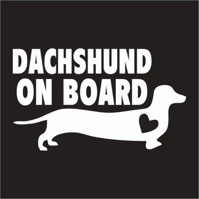 Car Sticker - Dachshund on Board