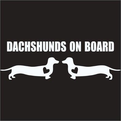 Car Sticker - Dachshunds on Board