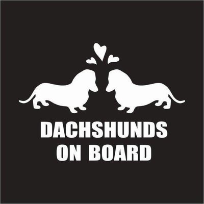 Car Sticker - Dachshunds on Board 2