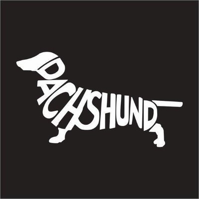 Car Sticker - Dachshund Word
