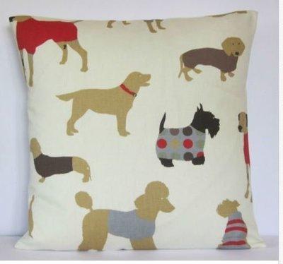 Cushion Slip - Mixed Dog Pattern 1
