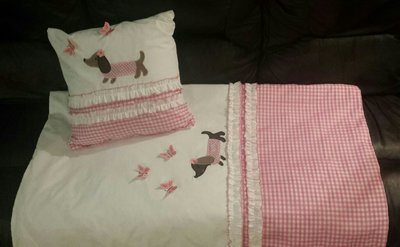 Duvet and Pillow for Baby Girls Cot