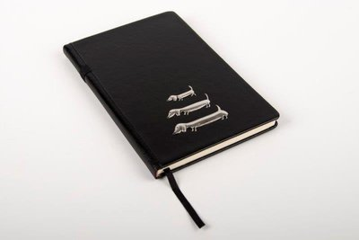 Pewter Range - Stylish Bespoke Journal - Three Dachshunds