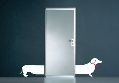Wall Decal – Split Sausage Dog