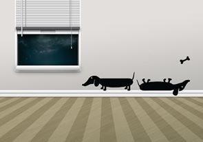 Wall Decal - Upside Down Dog