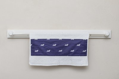 Custom Decorative Hand Towel Set - White & Purple