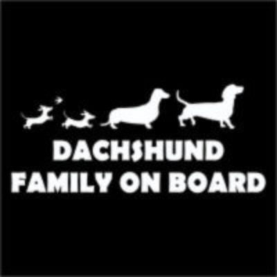 ​Car Sticker - Dachshund Family on Board (2)