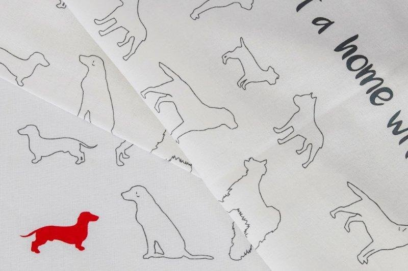 Dish/Tea Towel - Mixed dogs & Red Dachshund