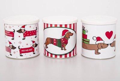 Christmas Themed Dachshund Tins - Small