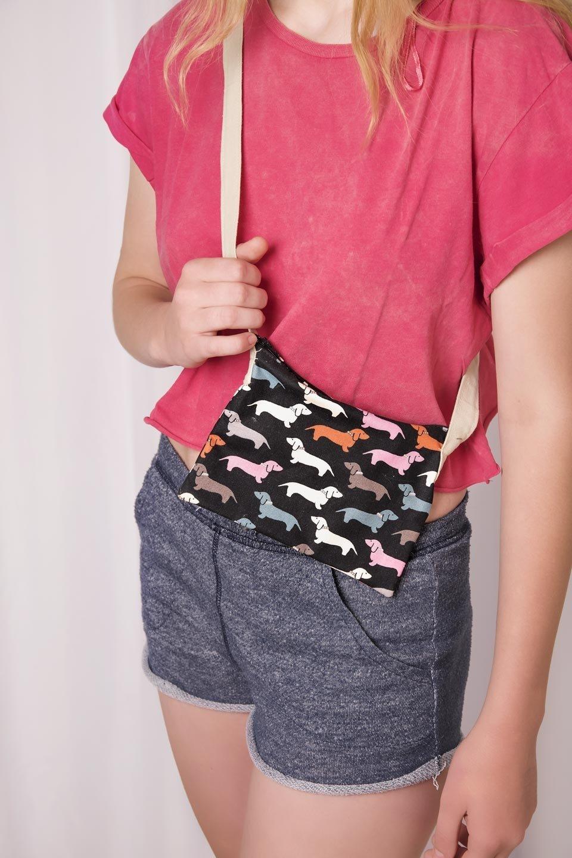 Small Fabric Sling Bag