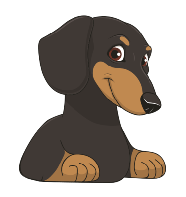 Cheeky Dachshund Car sticker - Black