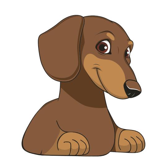 Cheeky Dog Car Sticker - Brown