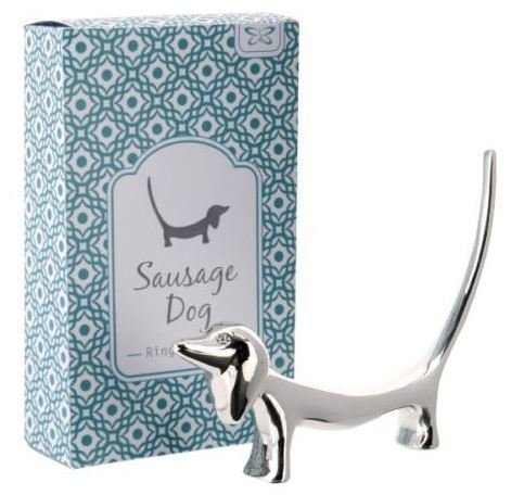 Dachshund Ring Holder - Silver