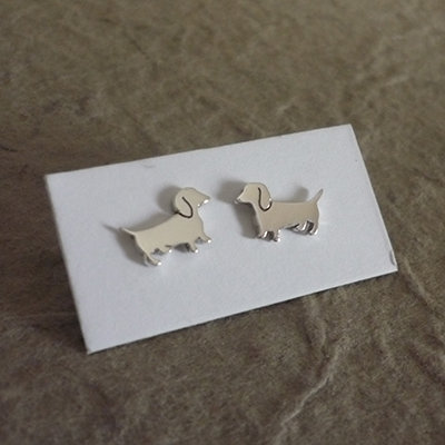 ​Sterling Silver Dachshund Earrings - Cute Dogs