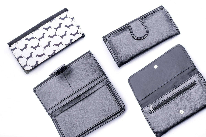 White & Black Wallet - Design 1