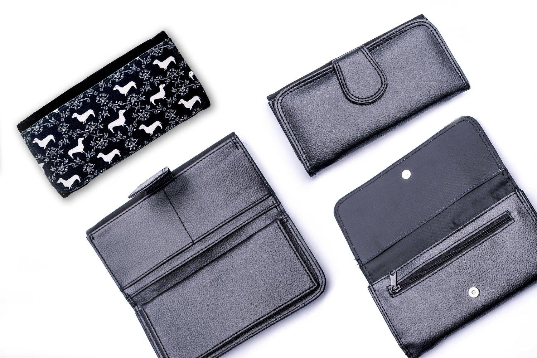 Black & White Dachshund Design Wallet 2